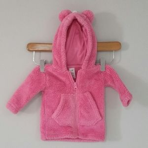 4/$20 0-3 Months Pink Bear Fleece Sweater
